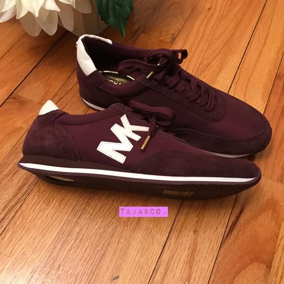 michael kors burgundy sneakers